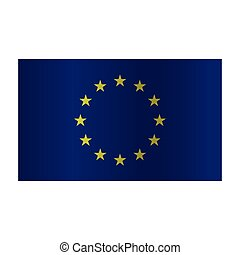 Simple vector Europe flag (EU) isolated on white background