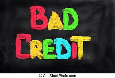 Bad Credit Concept