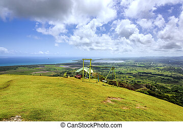 Atlantic Ocean Valley - view from the top of the valley of...