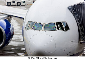 aircraft nose - the nose of the aircraft is a close-up of...
