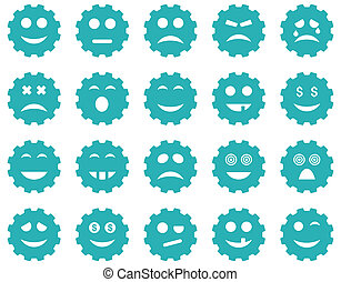 Gear emotion icons
