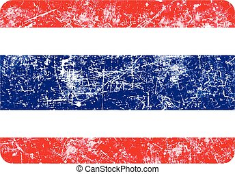 illustration vector grunge stamp flag of Thailand country.