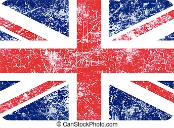illustration vector grunge stamp flag of United Kingdom country