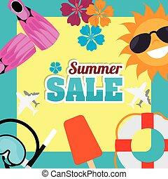 summer sale deals design, vector illustration eps10 graphic