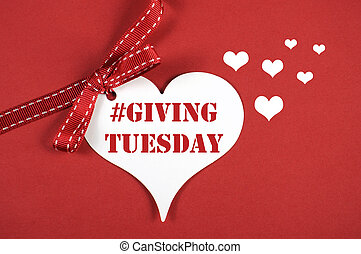 Giving Tuesday philanthropy day after Black Friday shopping...