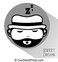 sweet dreams design, vector illustration eps10 graphic