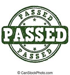 Passed stamp
