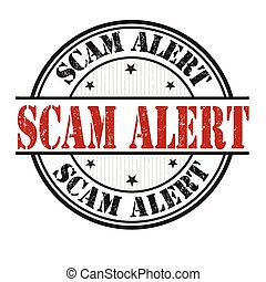 Scam alert stamp - Scam alert grunge rubber stamp on white...