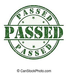Passed stamp - Passed grunge rubber stamp on white...