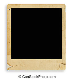 vintage frame - old style vintage photo frame with copyspace...