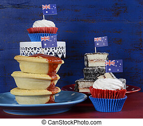 Happy Australia Day January 26 party food with iconic meat...
