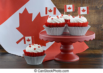 Happy Canada Day Cupcakes - Happy Canada Day celebration...