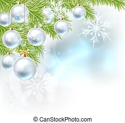 Christmas Tree Baubles Background