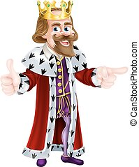 King Cartoon Person - Cartoon king character illustration...