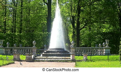 St. Petersburg-Peterhof. Fountains and statues.