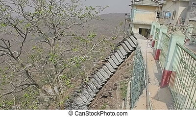 Stairs leads to the Popa Taungkalat monastery - Popa...