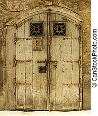 Old door - The old front door in the historic center of...