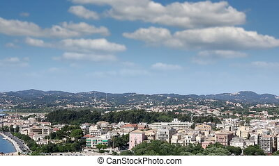Corfu town cityscape