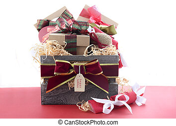 Large Christmas Gift Hamper - Large Christmas gift hamper...