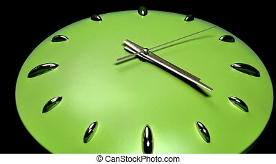 Clock Fast Time Zoomed High Speed - Stylish clock ticking...