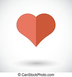 Card suit - Suit of heart Flat vector icon for mobile and...