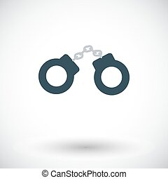 Handcuffs Flat vector icon for mobile and web applications...