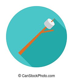 Marshmallow - Marshmallow. Flat vector icon for mobile and...