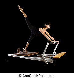 Pilates workout exercises - Pilates reformer workout...