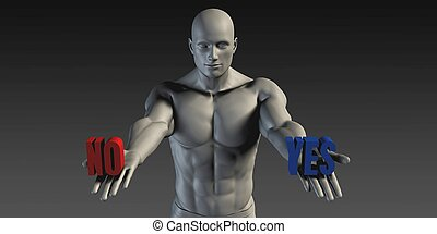 Yes or No as a Versus Choice of Different Belief
