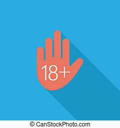 Age restriction - Age restriction icon Flat vector related...