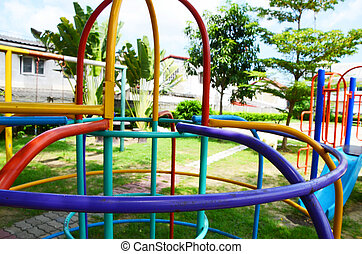playground in thailand - Playground of the village In...