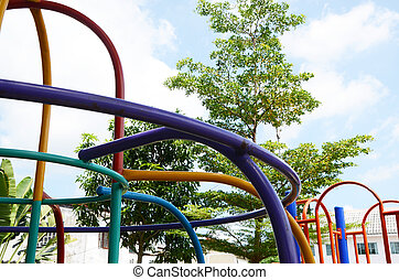 plaything and playground - Playground of the village In...