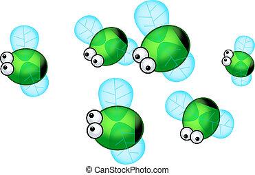 Green Bottle Flies