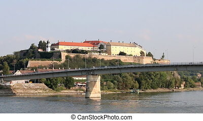 Petrovaradin fortress on Danube river Novi Sad Serbia