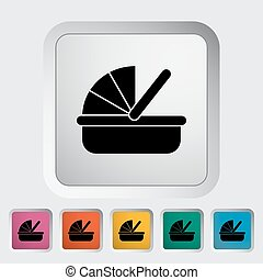 Cradle icon. Flat vector related icon for web and mobile...