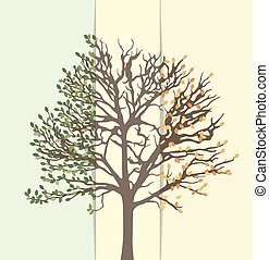 Illustration of an abstract tree, s