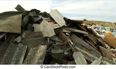 Construction Wastes Dumped In A Huge Pile In Ukraine - This...