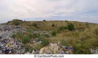 Large Heap Of Wastes At Landfill In Ukraine - This is a...