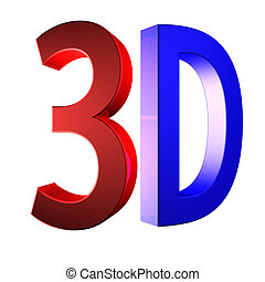 Clear 3D logo isolated on white background