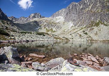Tarn Batizovske pleso in High Tatras, Slovakia