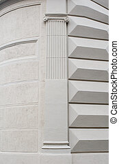 architectural columns on the building