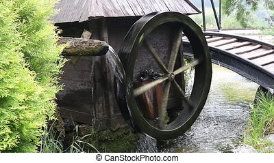 water mill wheel