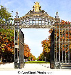 Buen Retiro Park - Gate to the Buen Retiro Park, Madrid,...