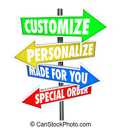Customize Personalize Made for You Special Order Signs -...