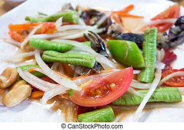 SOM TUM is famous food in Thailand