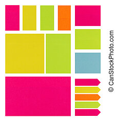 Post It Notes on a White Background