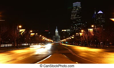 Philadelphia traffic flows - Philadelphia City center...