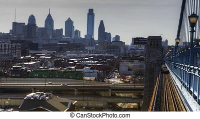 Philadelphia at twilight - Philadelphia a timelapse from the...