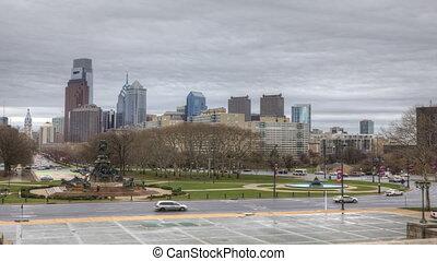 Philadelphia from the Museum - Timelapse of Philadelphia...