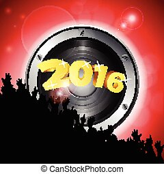 New Year party 2016 with speaker